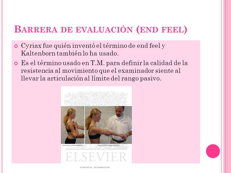 Barrera de evaluación (end feel)