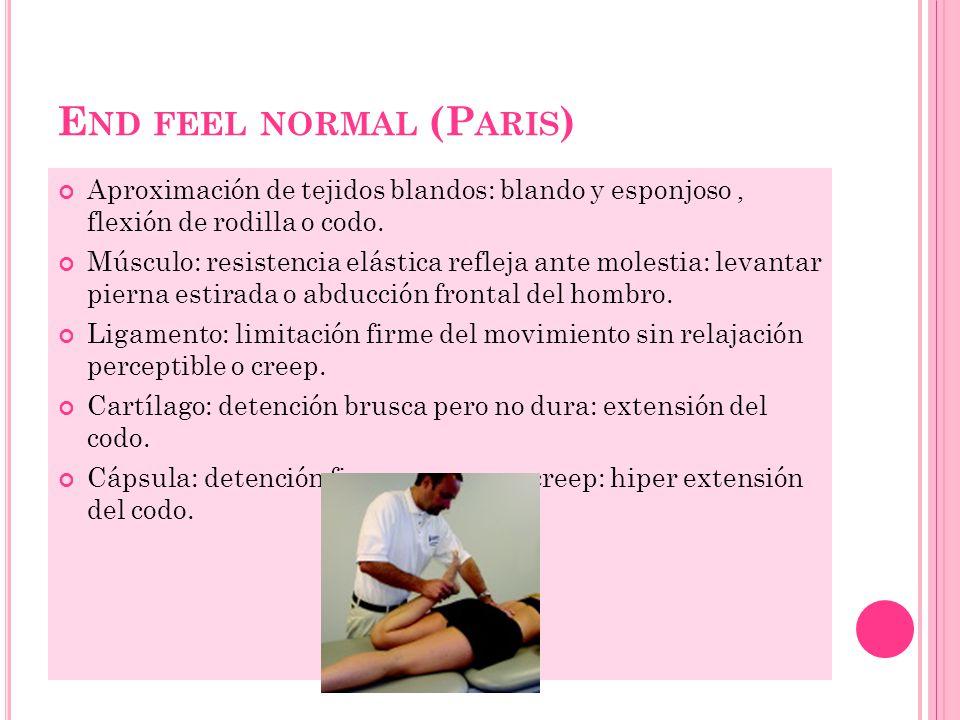 End feel normal (Paris)