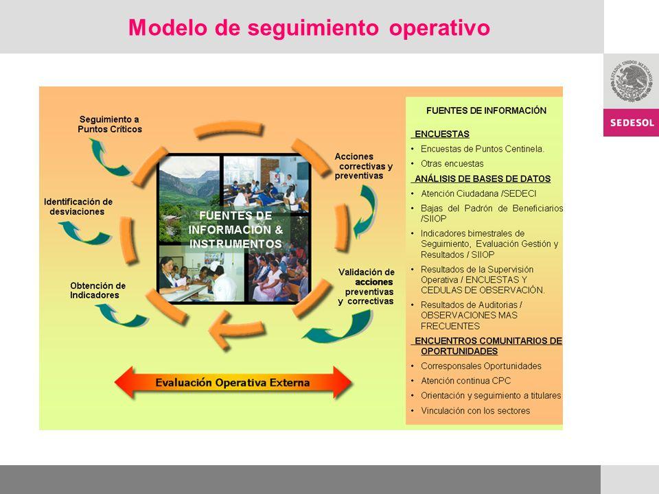 Modelo de seguimiento operativo