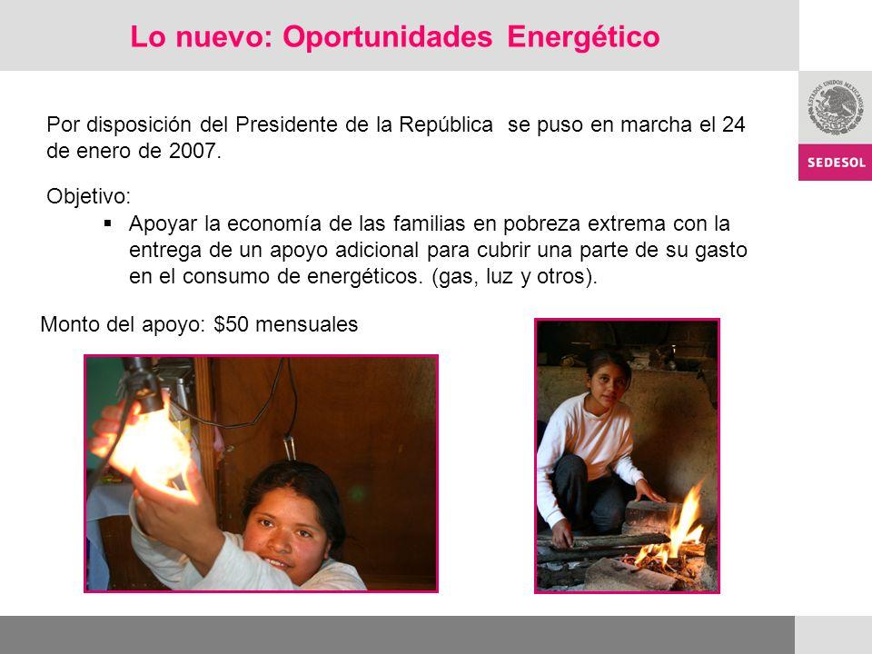 Lo nuevo: Oportunidades Energético