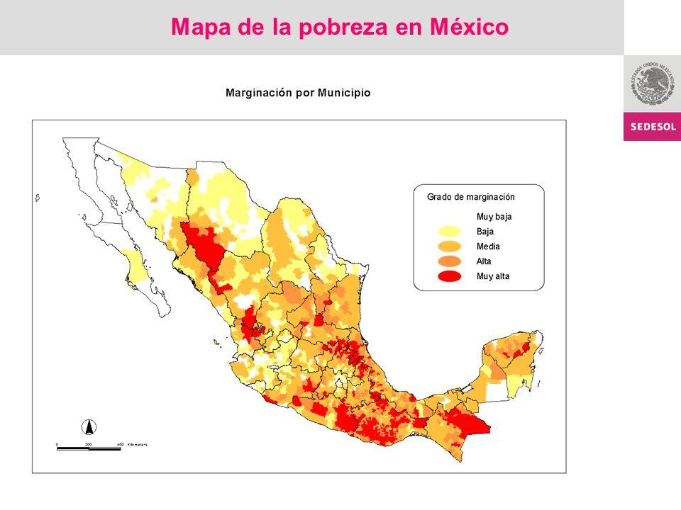 Mapa de la pobreza en México