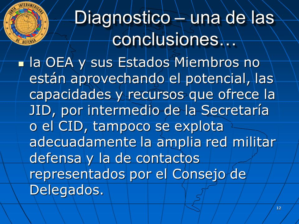 Diagnostico – una de las conclusiones…