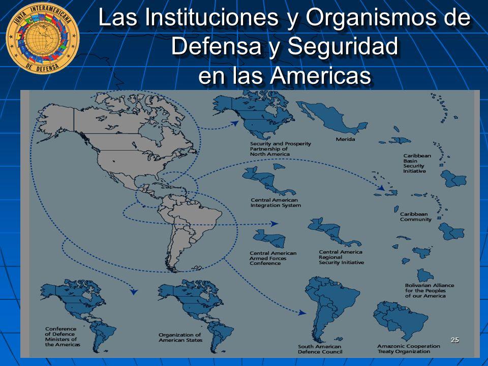 Las Instituciones y Organismos de Defensa y Seguridad en las Americas