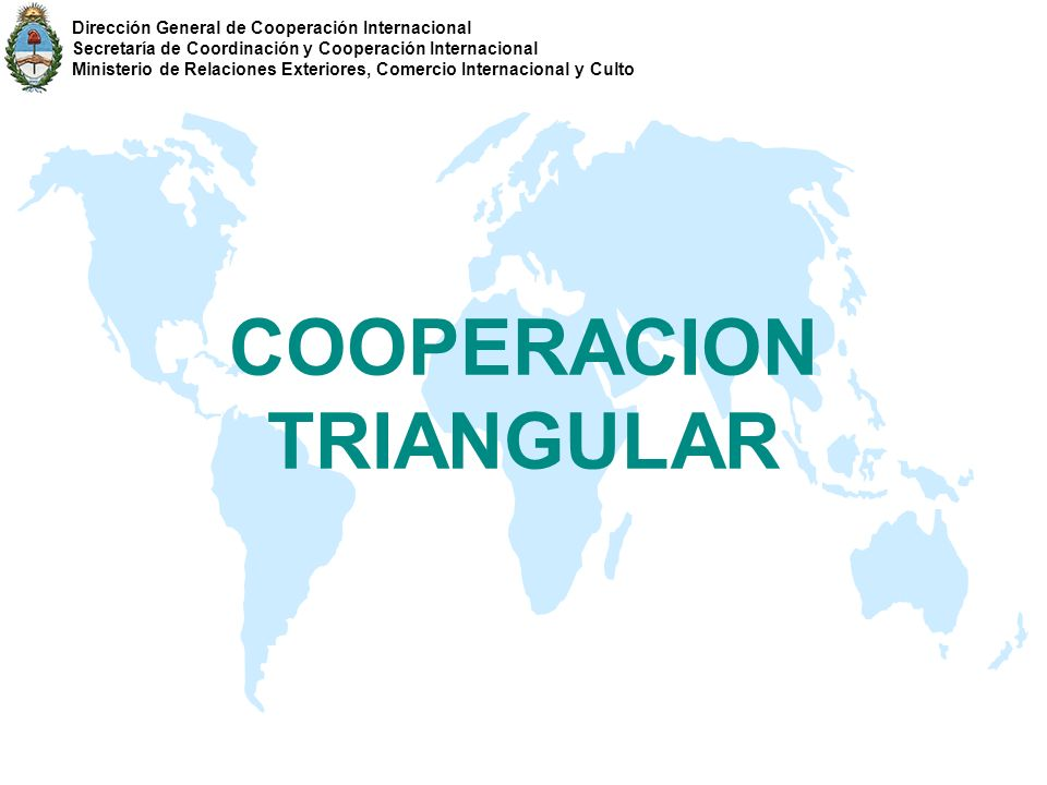 COOPERACION TRIANGULAR