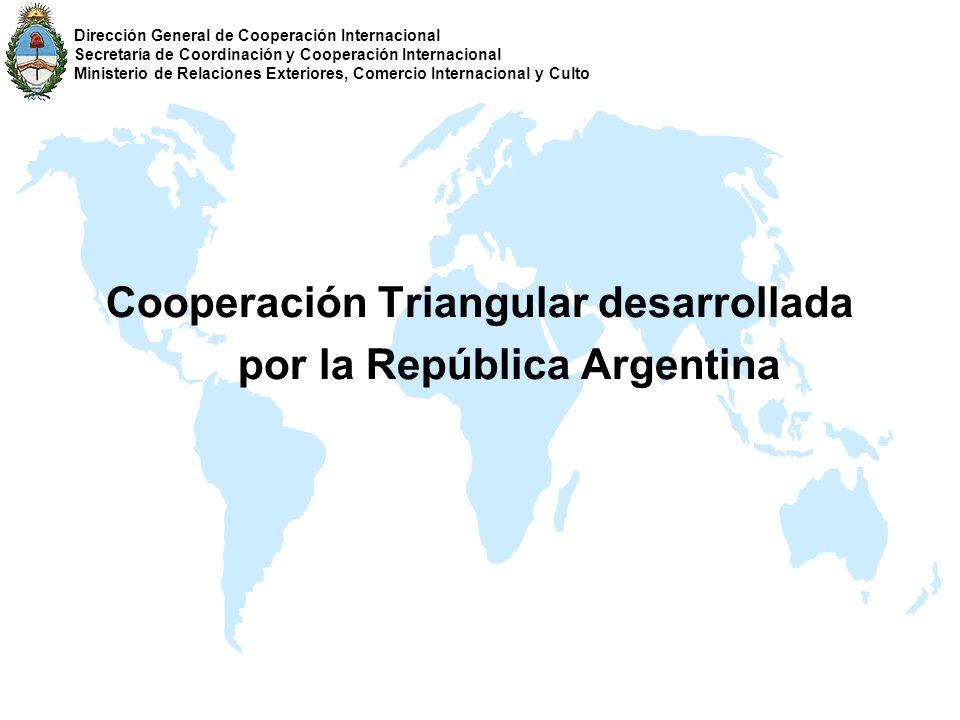 Cooperación Triangular desarrollada por la República Argentina