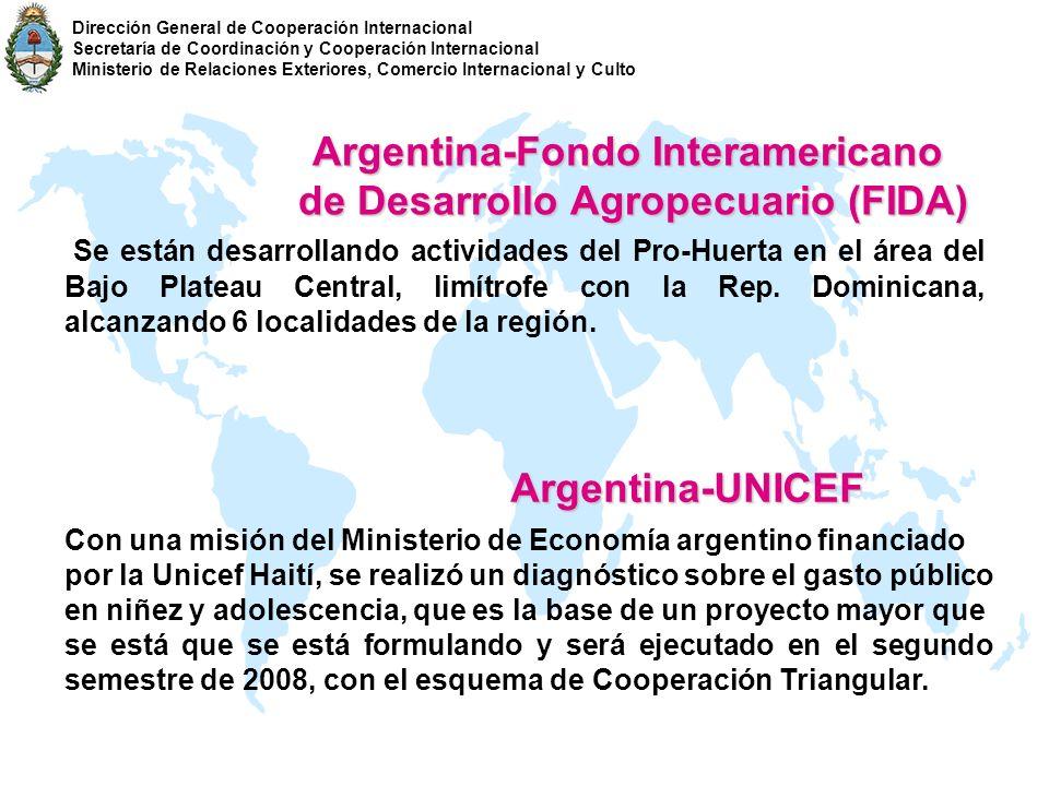 Argentina-Fondo Interamericano de Desarrollo Agropecuario (FIDA)