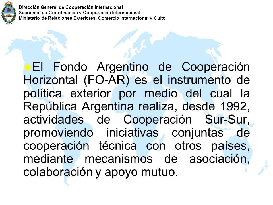 Dirección General de Cooperación Internacional