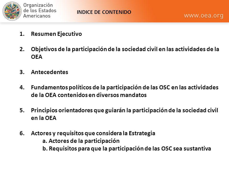 Actores y requisitos que considera la Estrategia