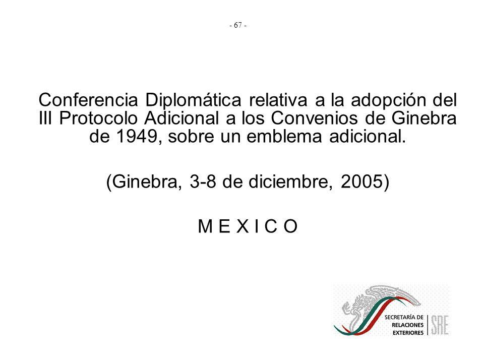 (Ginebra, 3-8 de diciembre, 2005)
