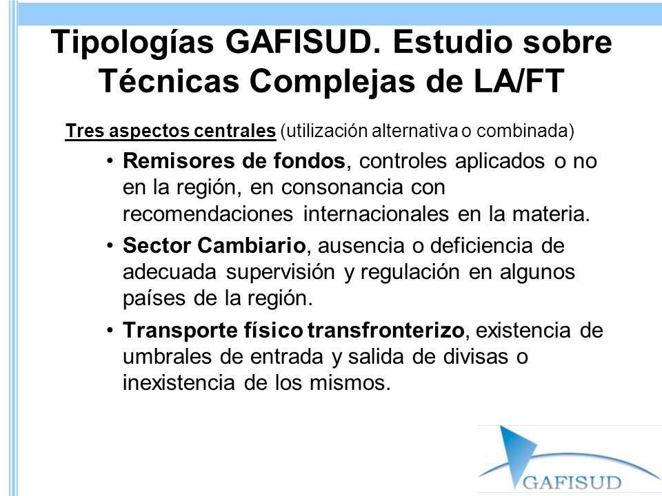 Tipologías GAFISUD. Estudio sobre Técnicas Complejas de LA/FT