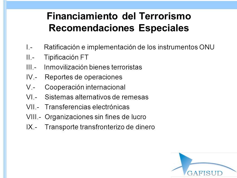 Financiamiento del Terrorismo Recomendaciones Especiales
