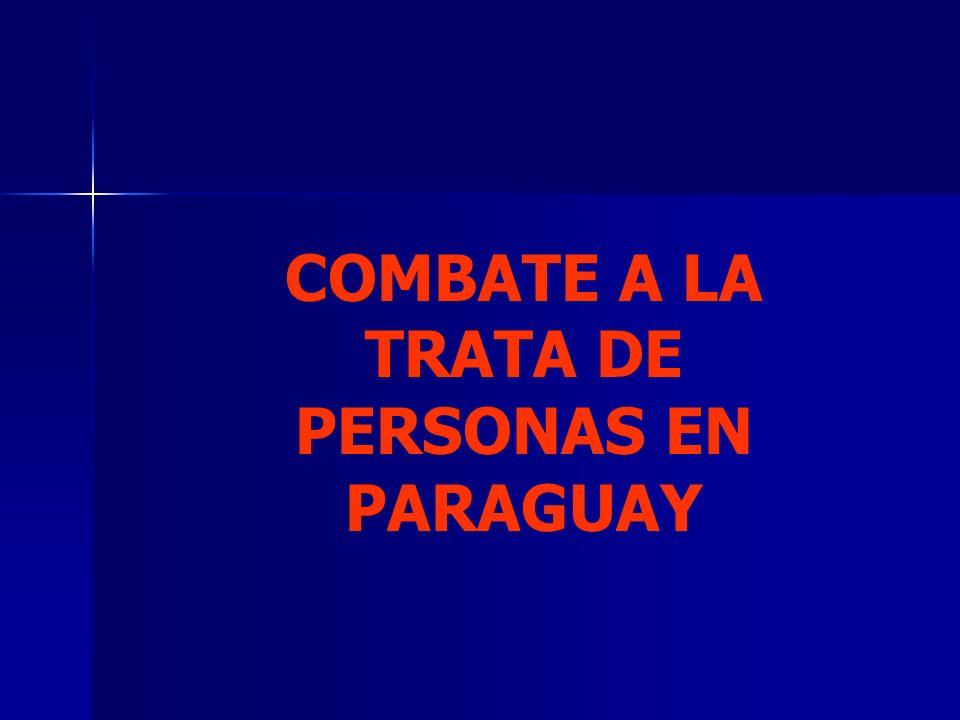 COMBATE A LA TRATA DE PERSONAS EN PARAGUAY