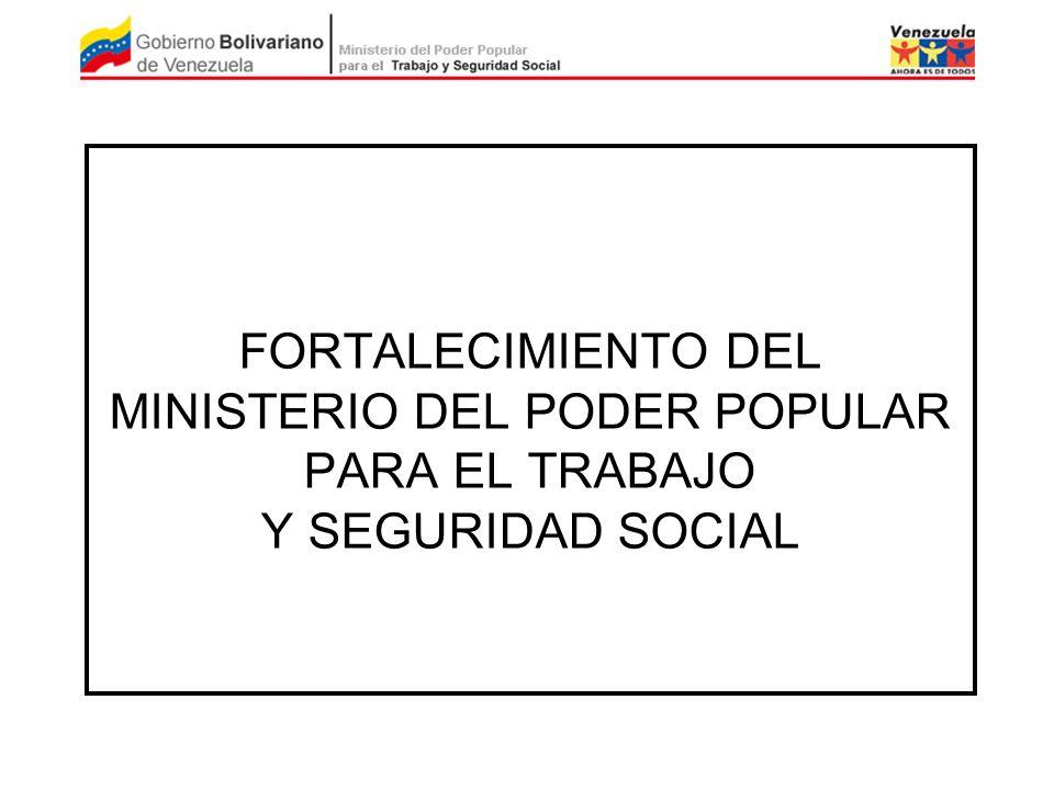 FORTALECIMIENTO DEL MINISTERIO DEL PODER POPULAR PARA EL TRABAJO Y SEGURIDAD SOCIAL
