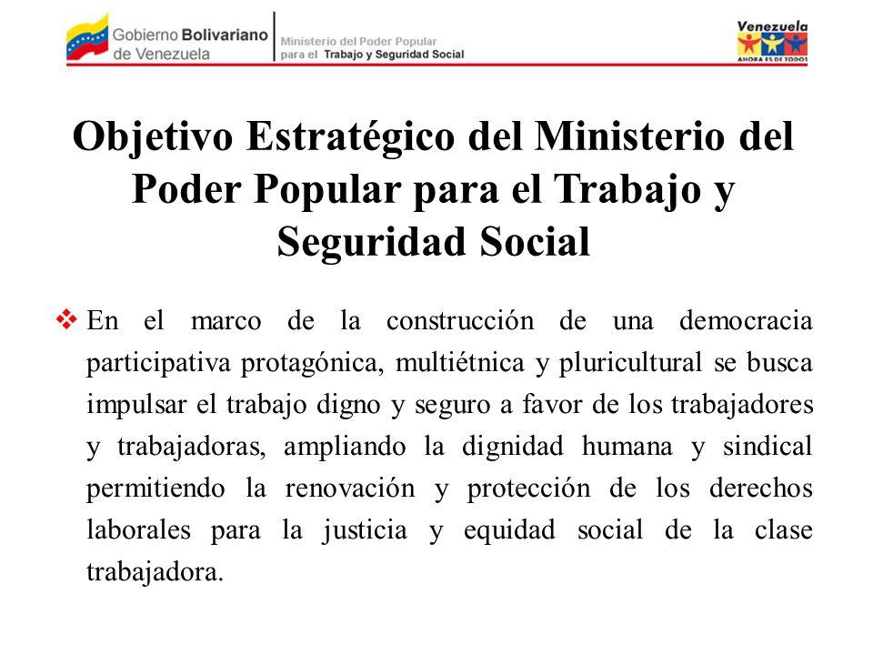 Objetivo Estratégico del Ministerio del Poder Popular para el Trabajo y Seguridad Social