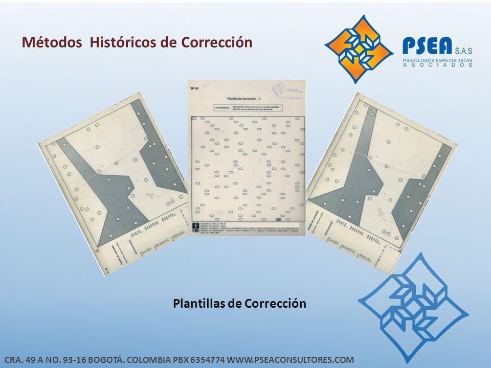 Métodos Históricos de Corrección Plantillas de Corrección