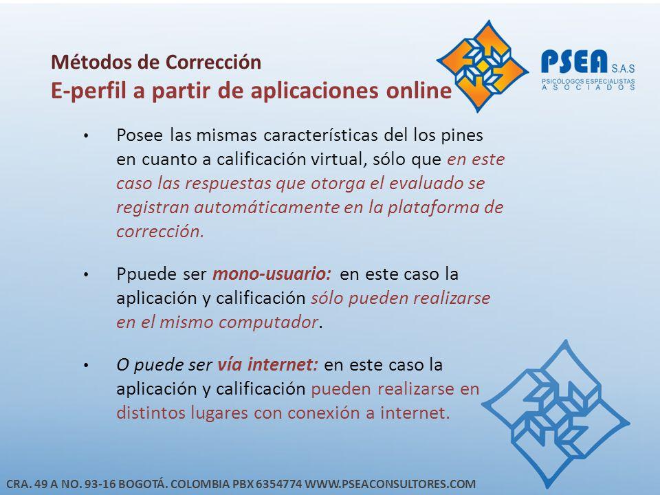 E-perfil a partir de aplicaciones online