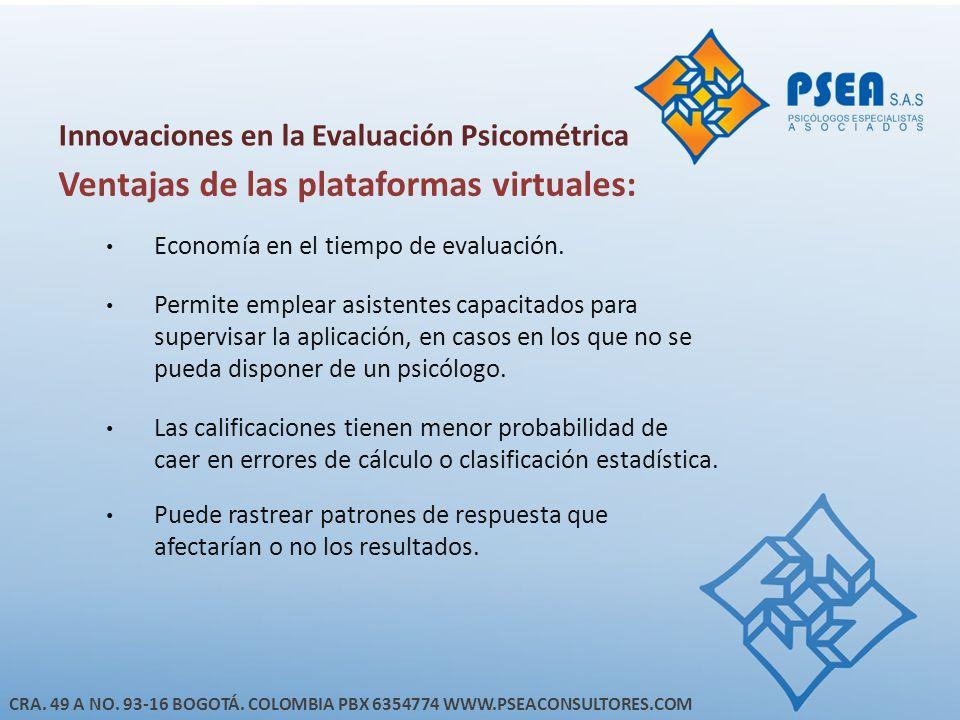 Innovaciones en la Evaluación Psicométrica