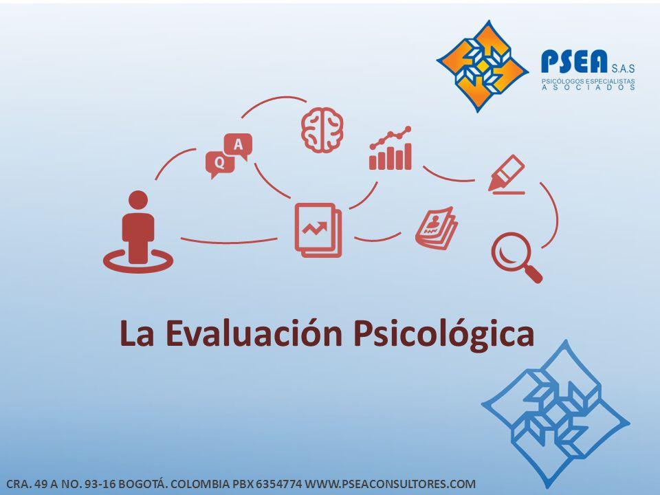 La Evaluación Psicológica