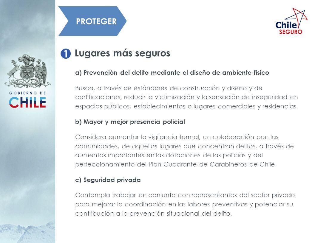 Lugares más segurosa) Prevención del delito mediante el diseño de ambiente físico.