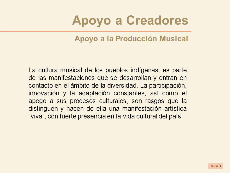 Apoyo a Creadores Apoyo a la Producción Musical