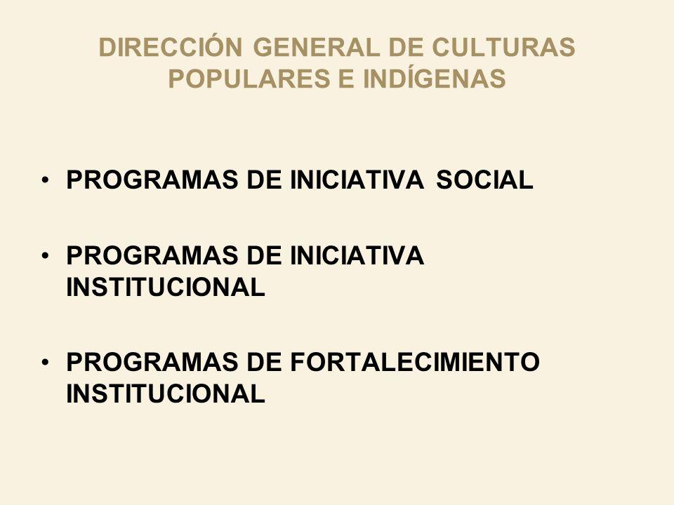 DIRECCIÓN GENERAL DE CULTURAS POPULARES E INDÍGENAS