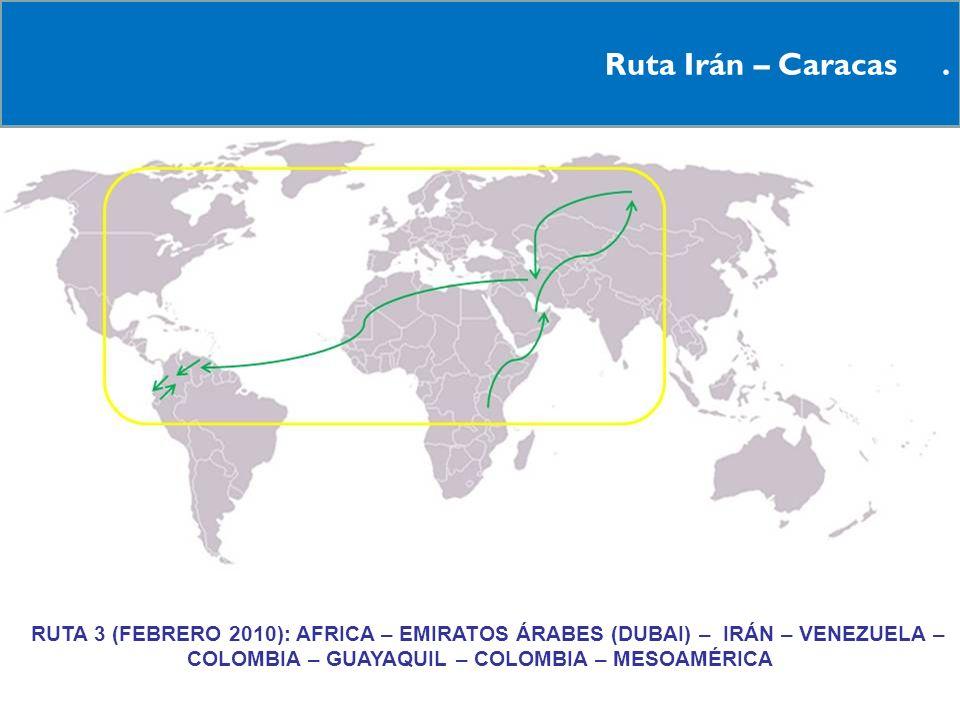 Ruta Irán – Caracas .