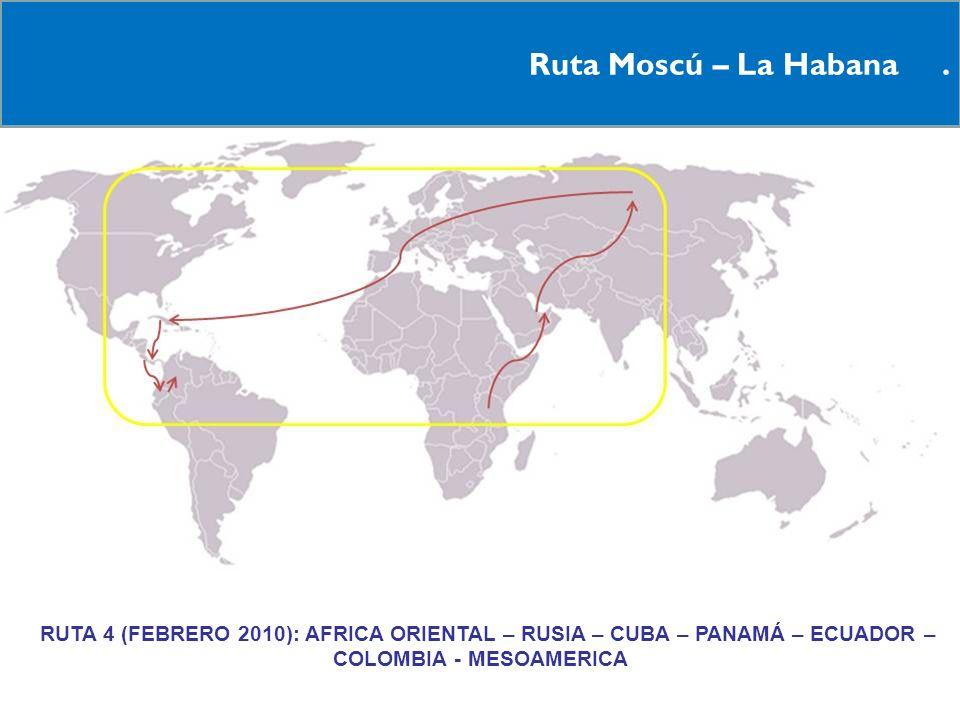 Ruta Moscú – La Habana .