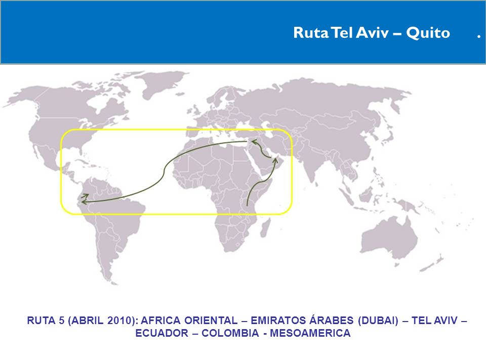 Ruta Tel Aviv – Quito .