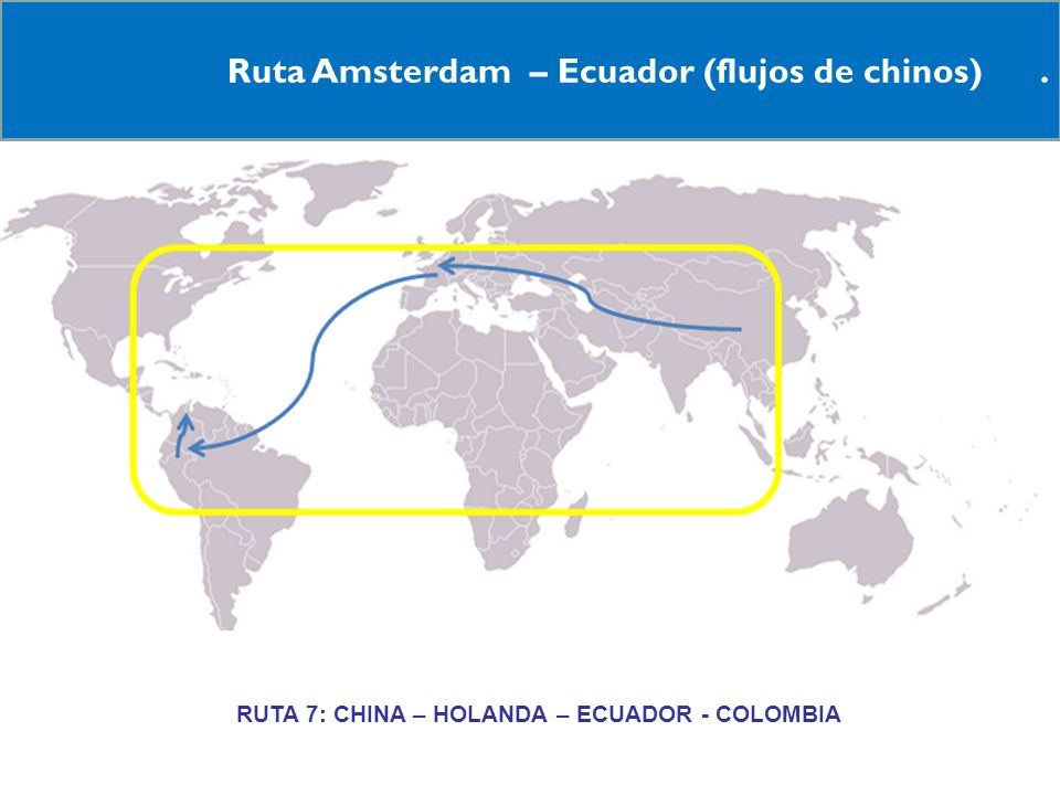 RRUTA 7: CHINA – HOLANDA – ECUADOR - COLOMBIA