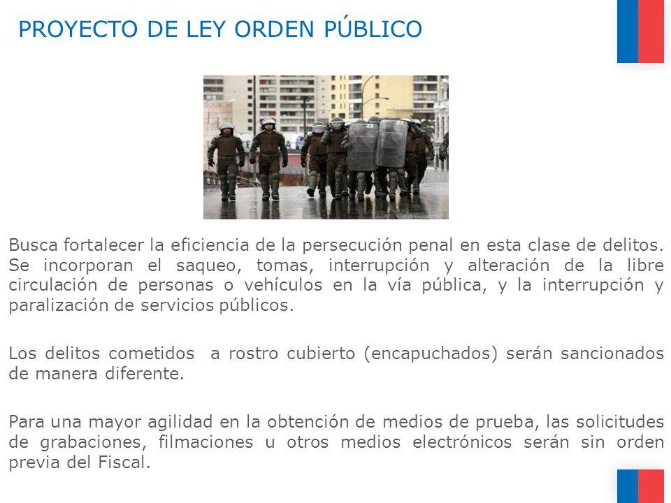 PROYECTO DE LEY ORDEN PÚBLICO