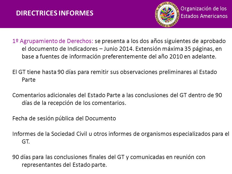 Financiamiento DIRECTRICES INFORMES