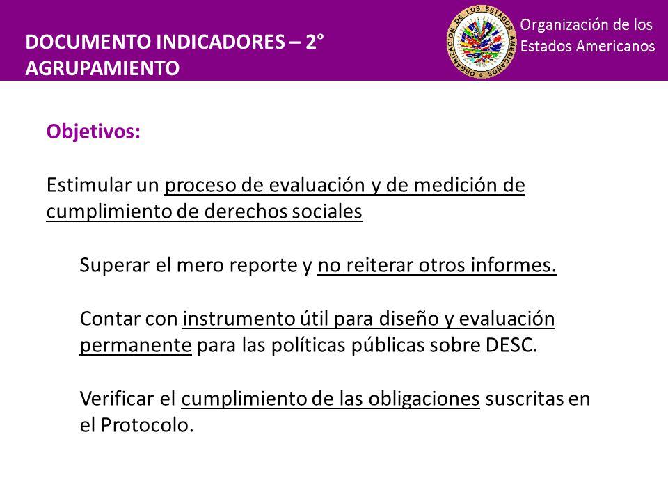 Financiamiento DOCUMENTO INDICADORES – 2° AGRUPAMIENTO Objetivos: