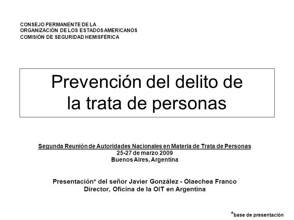 Prevención del delito de la trata de personas