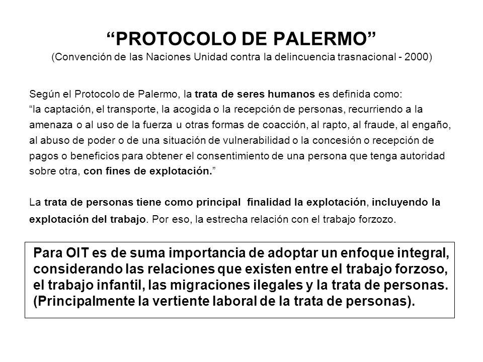 PROTOCOLO DE PALERMO (Convención de las Naciones Unidad contra la delincuencia trasnacional - 2000)