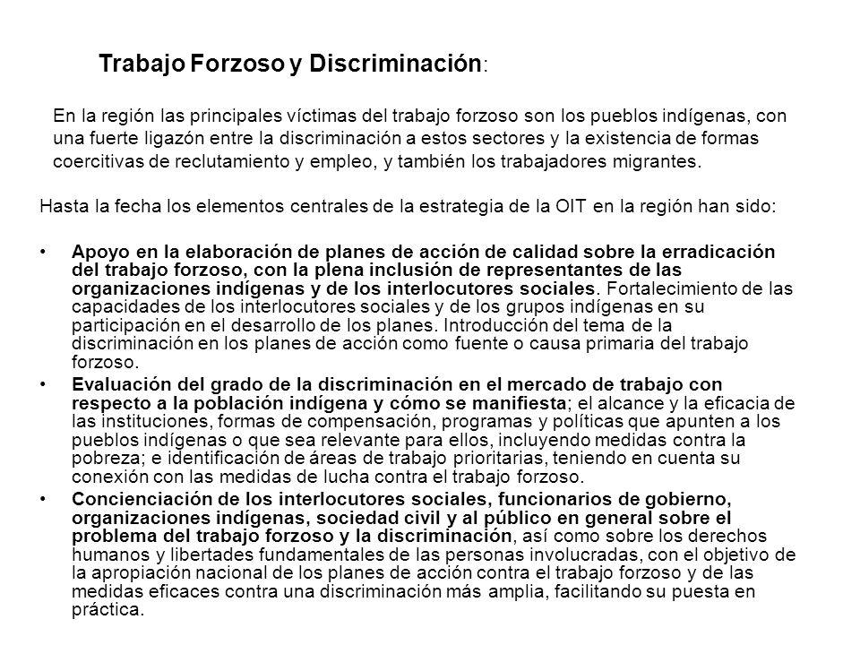 Trabajo Forzoso y Discriminación: