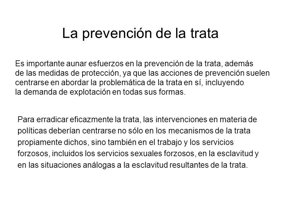 La prevención de la trata