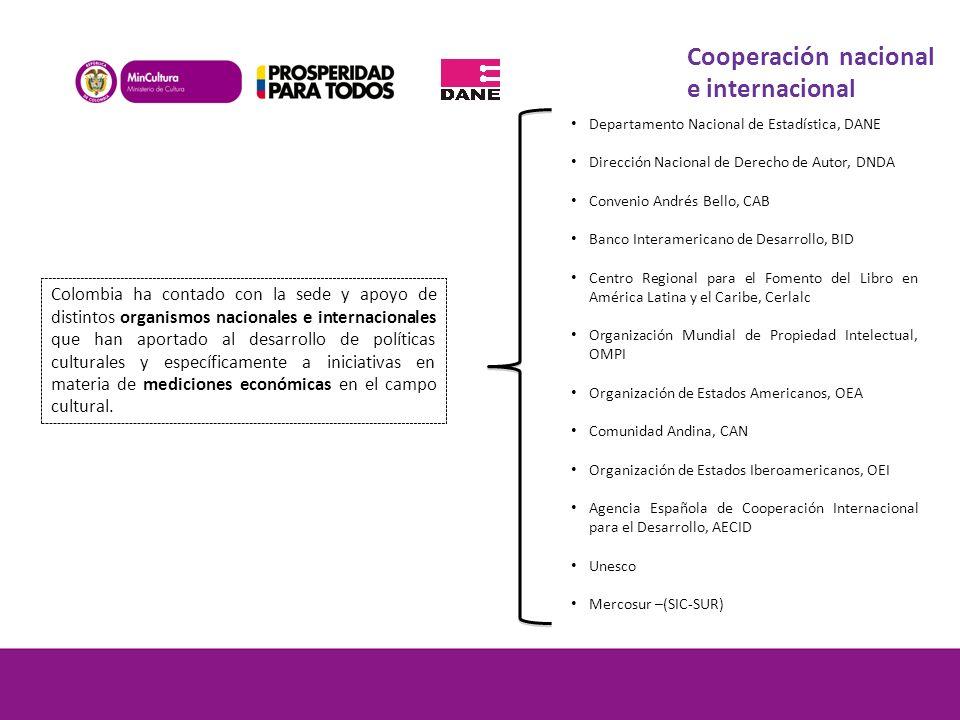 Cooperación nacional e internacional