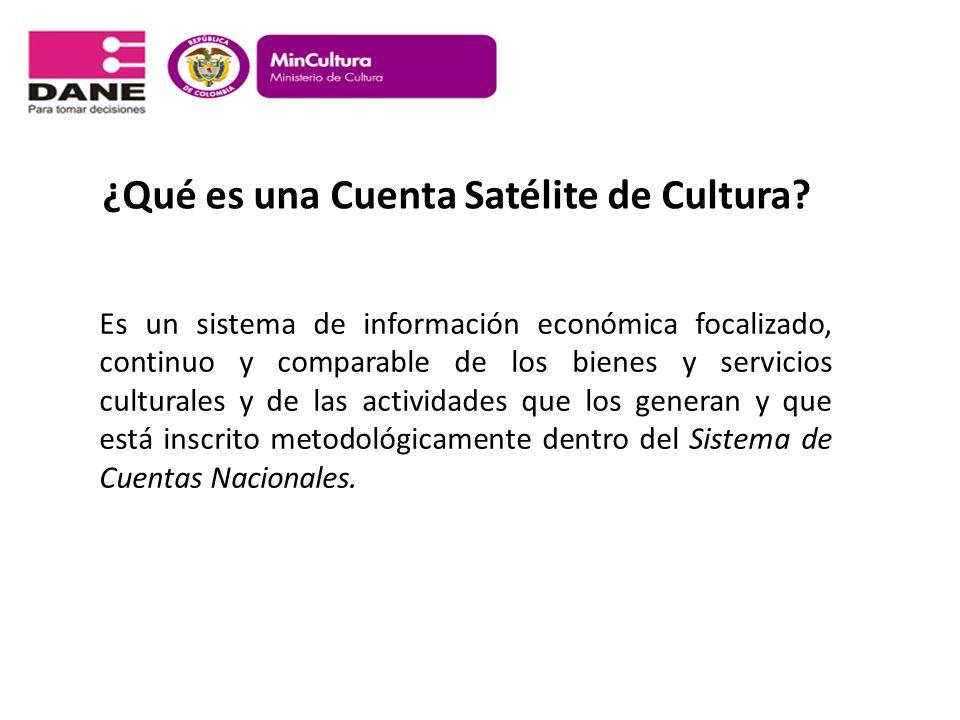 ¿Qué es una Cuenta Satélite de Cultura