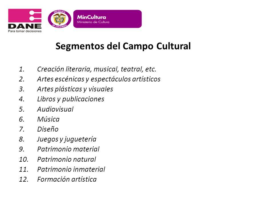 Segmentos del Campo Cultural