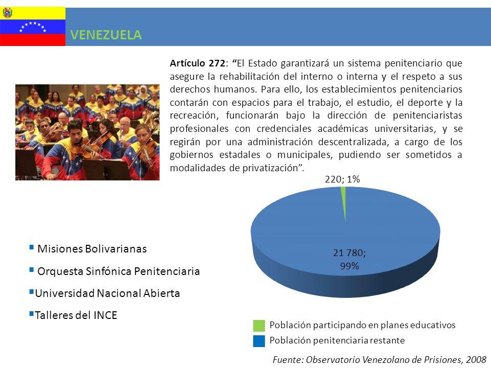VENEZUELA Misiones Bolivarianas Orquesta Sinfónica Penitenciaria