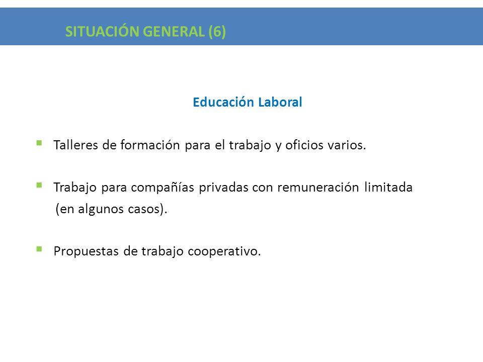 Situación General (5) SITUACIÓN GENERAL (6) Educación Laboral