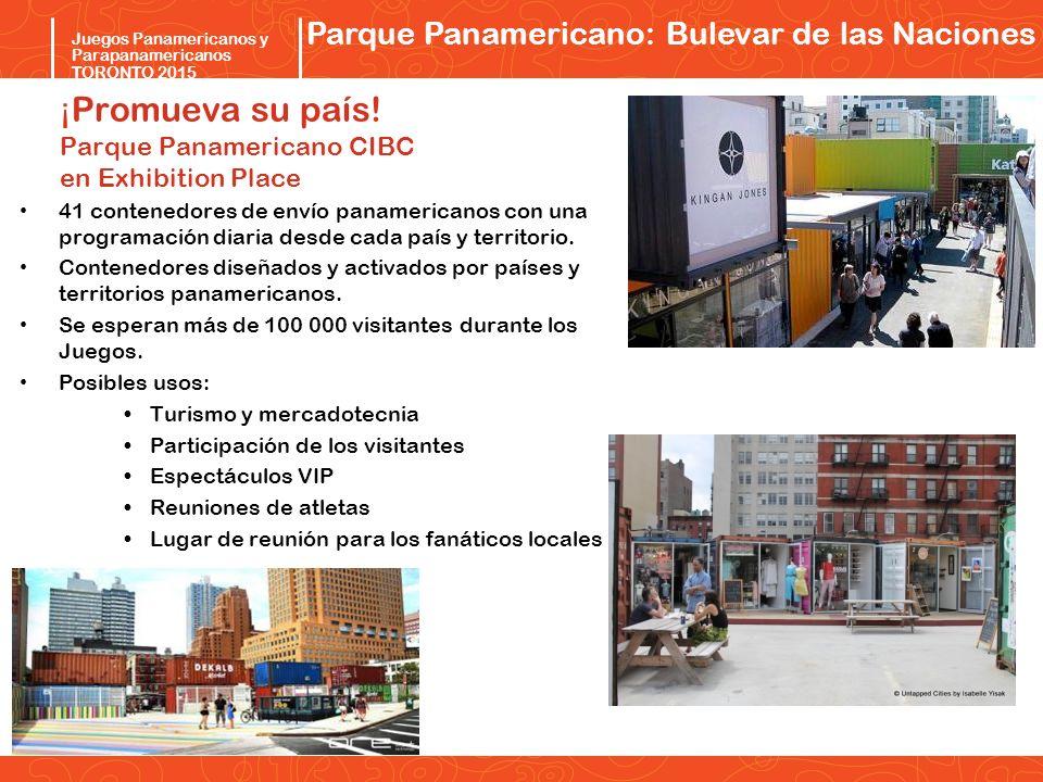 ¡Promueva su país! Parque Panamericano CIBC en Exhibition Place