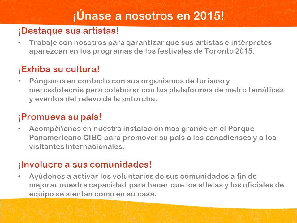 Opportunities for Your Missions ¡Únase a nosotros en 2015!