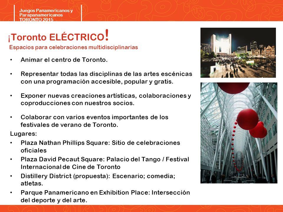 ¡Toronto ELÉCTRICO! Espacios para celebraciones multidisciplinarias