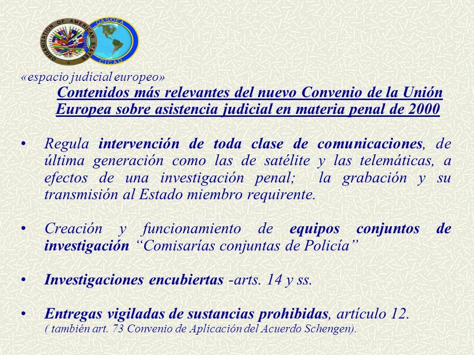 Investigaciones encubiertas -arts. 14 y ss.