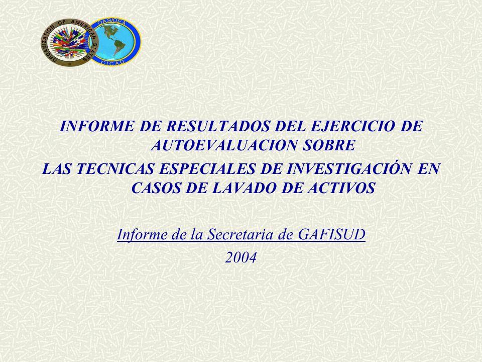 INFORME DE RESULTADOS DEL EJERCICIO DE AUTOEVALUACION SOBRE