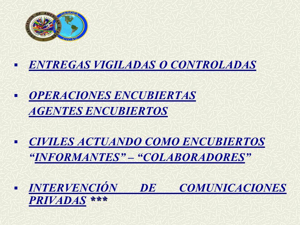 ENTREGAS VIGILADAS O CONTROLADAS
