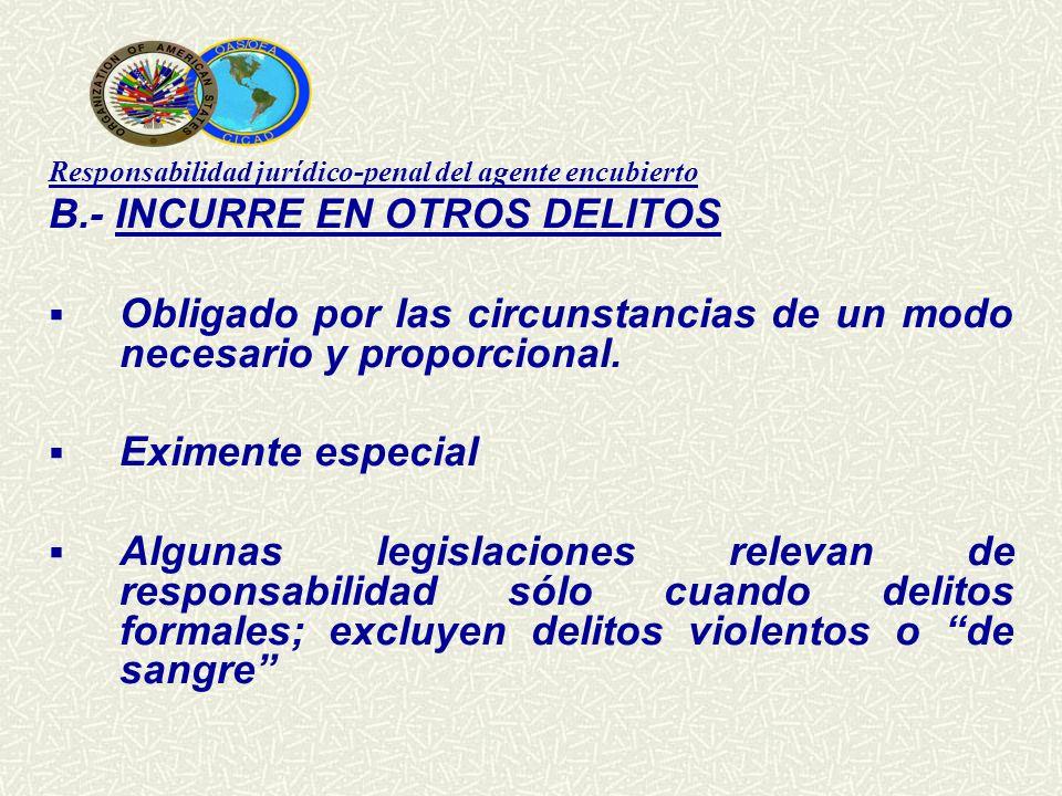 B.- INCURRE EN OTROS DELITOS