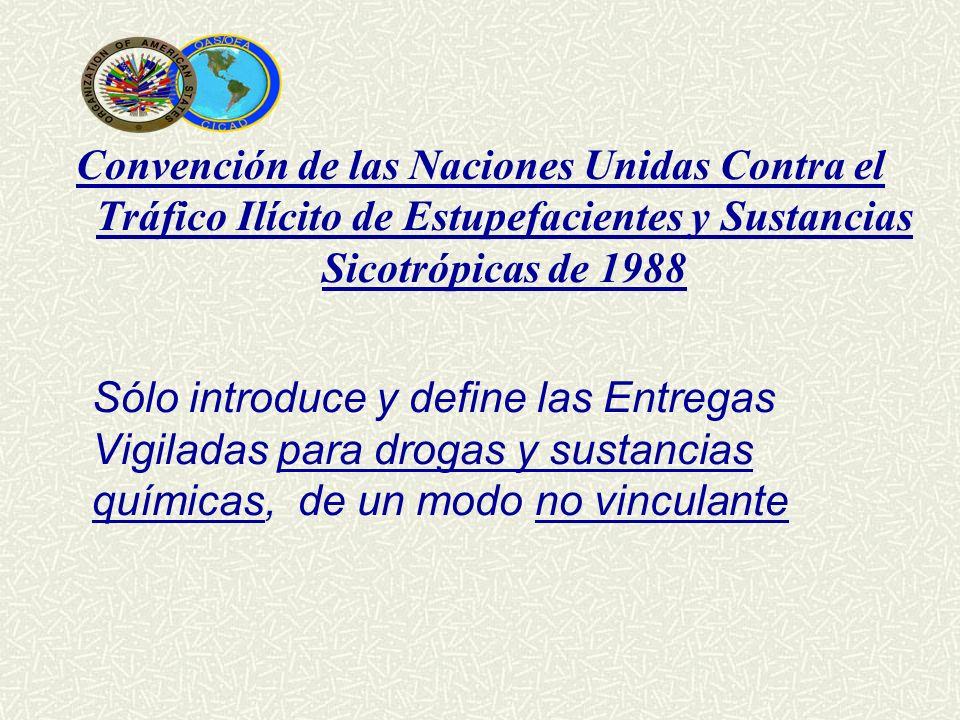 Convención de las Naciones Unidas Contra el Tráfico Ilícito de Estupefacientes y Sustancias Sicotrópicas de 1988