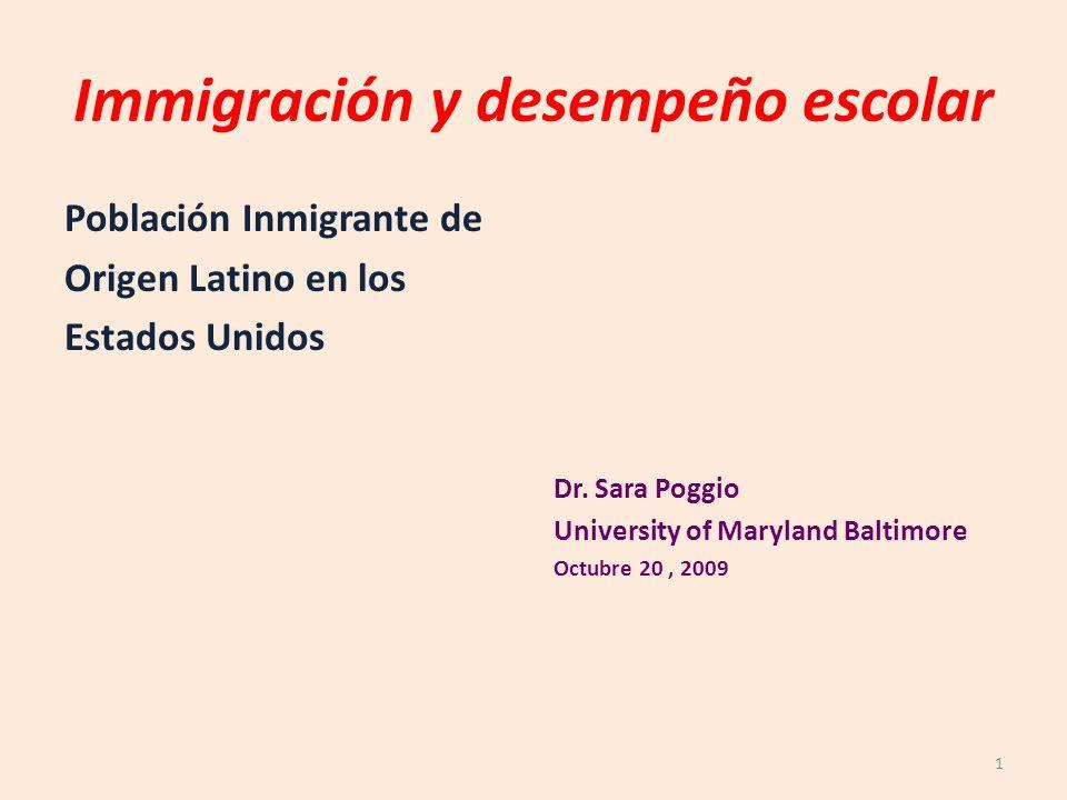 Immigración y desempeño escolar